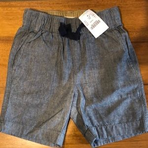 J Crew toddler 4 NWT chambray shorts